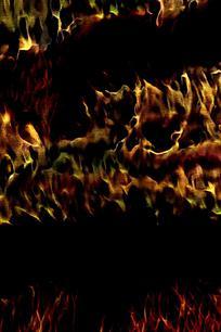 抽象黄绿火焰底纹背景