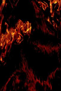 抽象意境火焰装饰画