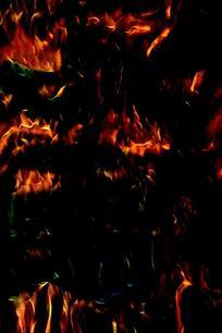 抽象印花火焰底纹