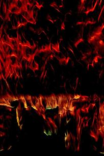 创意火焰油画底纹