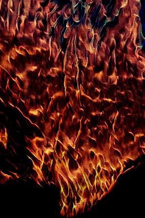 沸腾金色火焰底纹背景