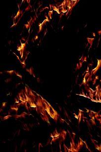 简约抽象火焰背景图案