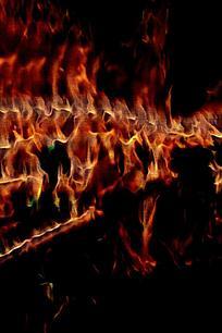 时尚火焰奔流背景图案