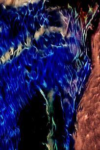 唯美艺术蓝色火焰底纹