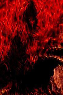震撼燃烧火焰底纹背景