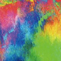 抽象画-红黄蓝绿的奏鸣曲