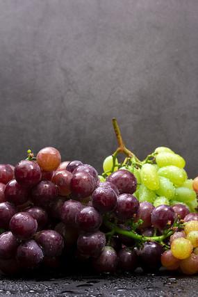 成熟的甜葡萄