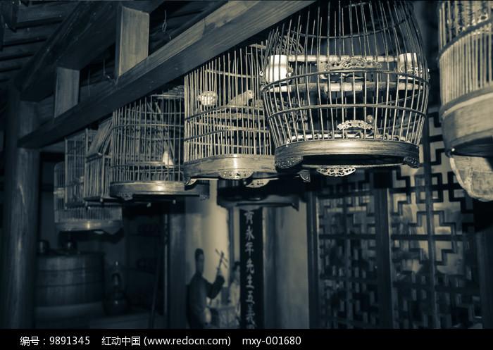 旧社会鸟笼子图片