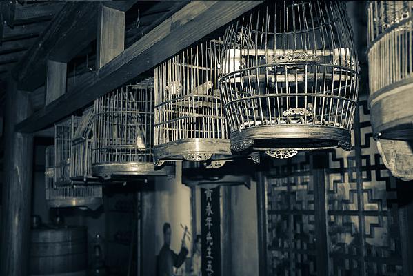 旧社会鸟笼子