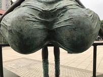 青铜雕塑局部