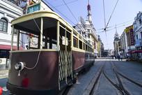上海复古老式电车