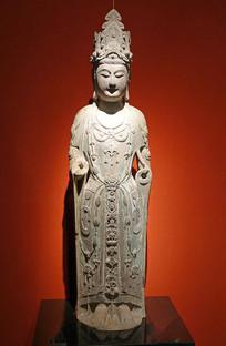 隋朝观世音菩萨石像