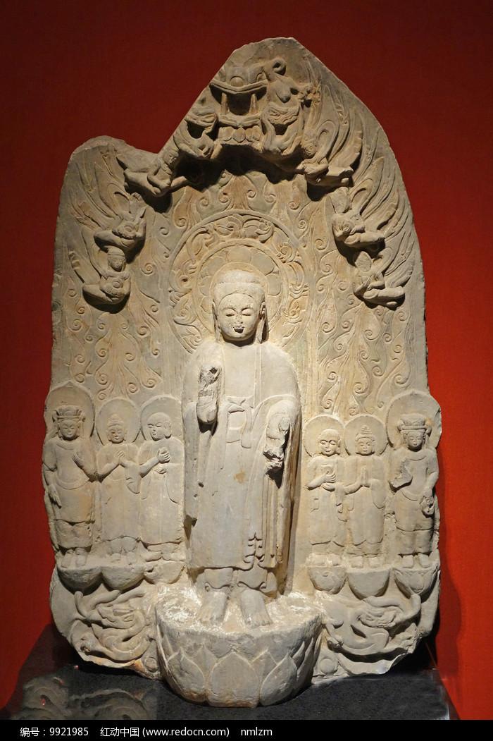 西魏弥勒佛石像 图片
