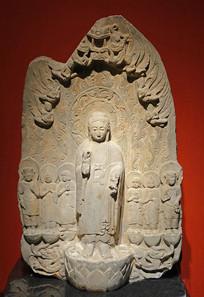 西魏弥勒佛石像