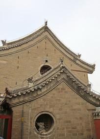 传统民居青砖墙