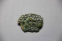 汉代青铜动物饰牌兔子