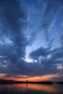 衡水湖夕阳美景