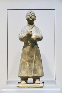 元代陶俑蒙古男孩