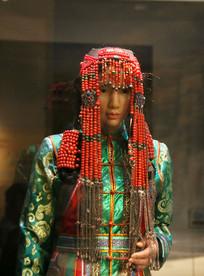 蒙古族民族服饰少女头饰