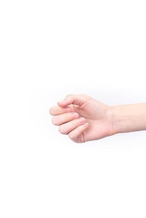一只半握的手掌