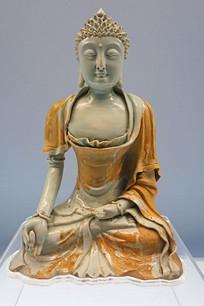 元代景德镇窑青白釉佛像