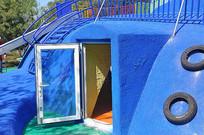 儿童乐园塑胶仿真海豚近景