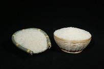 粮食大米竹碗装