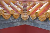 琉璃瓦滴水墙角