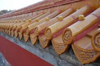 天坛龙纹琉璃瓦墙