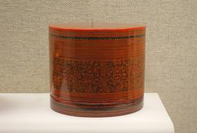 云南傣族彩绘舞蹈纹漆套盒