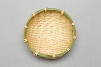 竹编圆篮子