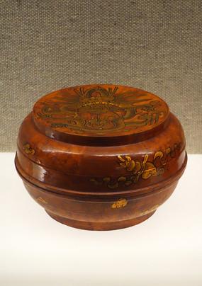蒙古族漆绘炒面盒