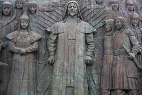 成吉思汗广场大汗与公主雕像