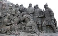成吉思汗广场蒙古将士雕像
