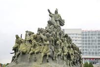 成吉思汗蒙古骑兵雕像
