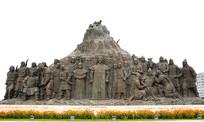 鄂尔多斯广场蒙古人雕像