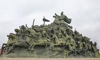 蒙古骑兵战场奔驰雕像