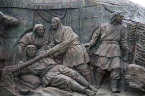 蒙古族囚犯雕像