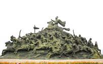 成吉思汗指挥蒙古骑兵雕像