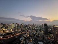 现代城市夜景大阪夜色