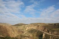 西北高坡黄土高原地貌