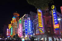 上海南京路商业招牌灯光夜景