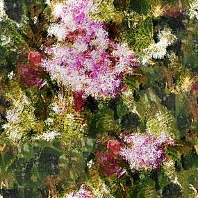 抽象花卉艺术油画
