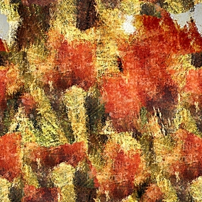 抽象花卉油画
