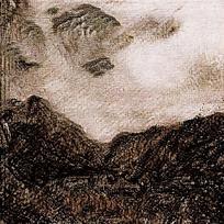 类似群山的背景渲染图片