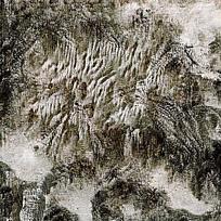 水墨风云海山脉全景图
