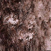 棕红色水墨渲染痕迹