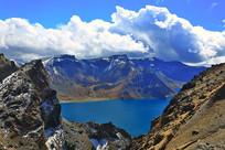长白山天池火山湖风光