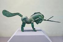 青铜马披甲执矛战马