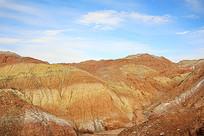 丹霞沉积地质山丘